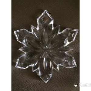 Mikasa Crystal Snowflake Ornament Joyous Collectio